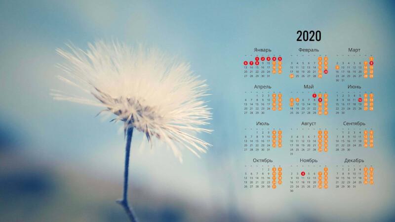 Обои на рабочий стол с календарем 2020 года (14)